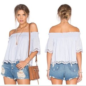 Tularosa Odessa Off The Shoulder Top In Ice